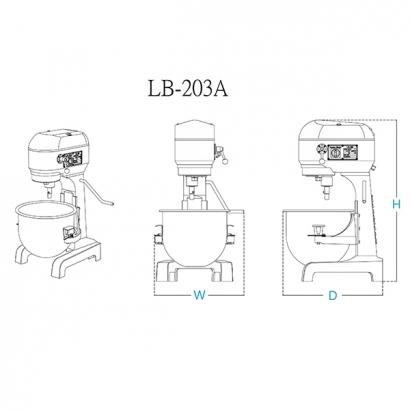 20 Liter Planetary Mixer Machines LB-203