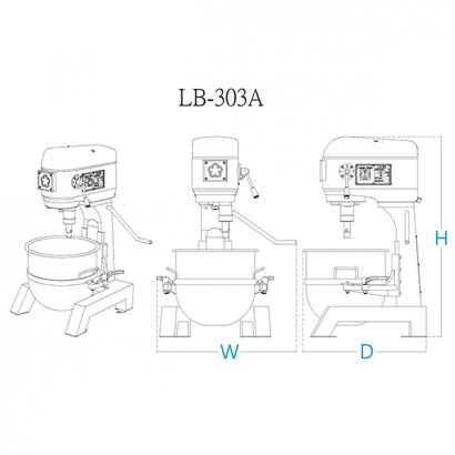 LB-303 30 Liter Planetary Mixer