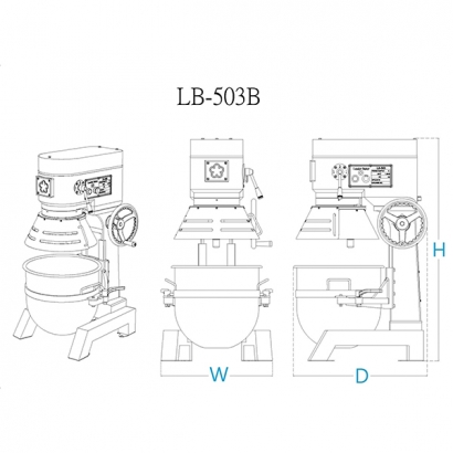LB-503 50 Liter Planetary Mixer