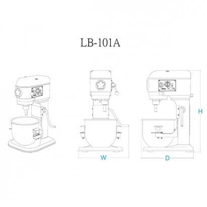 LB-101 10 Liter Planetary Mixer-Table Type