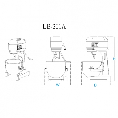 LB-201 20 Liter Planetary Mixer Machines