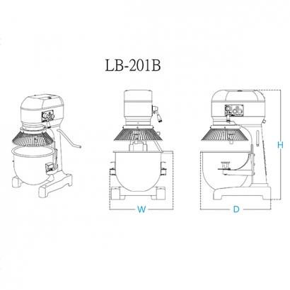 20 Liter Planetary Mixer