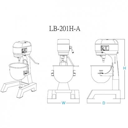 LB-201H 20 Liter Planetary Mixer