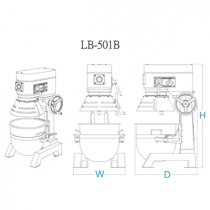 LB-501 50 Liter Planetary Mixer