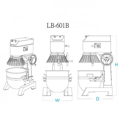 LB-601 60 Liter Planetary Mixer