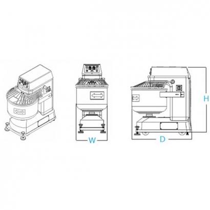 L-015 High Speed Spiral Mixer